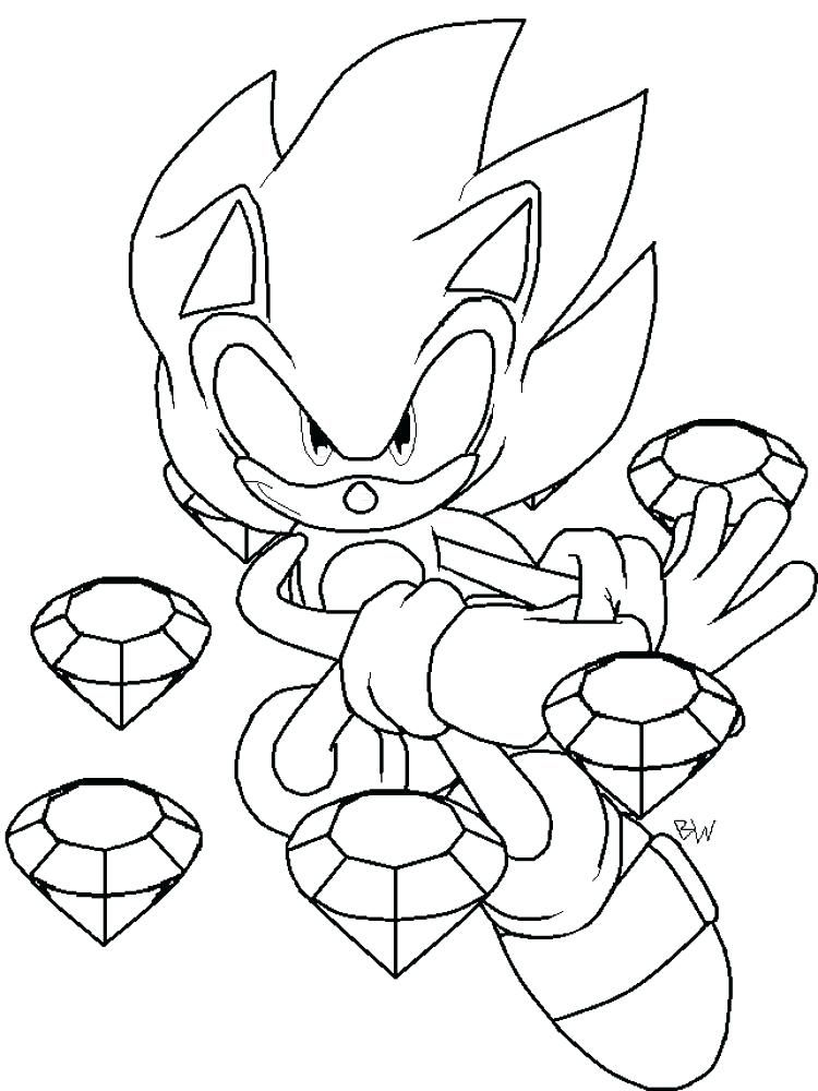 Easy Sonic Coloring Pages Ideas Printable Coloring Pages For