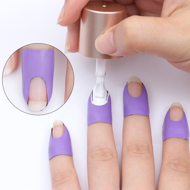 BORN PRETTY Peel Off Tape Spill-proof Nail Protector Black White ...