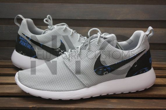 best loved 50904 54b9d Carolina Panthers Football Nike Roshe Run by NYCustoms on Etsy