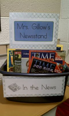 Promoting a love for reading... classroom newsstand.