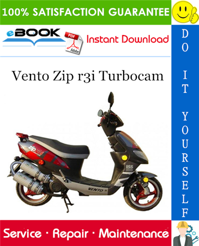 Vento Zip R3i Turbocam Scooter Service Repair Manual Repair Manuals Repair Automotive Repair