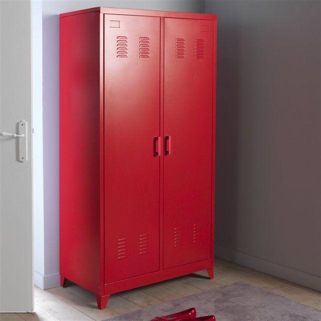 armoire vestiaire m tal 2 portes hiba la redoute interieurs chambre sous les combles. Black Bedroom Furniture Sets. Home Design Ideas
