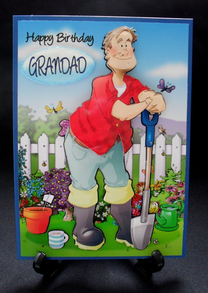 PERSONALISED MALE GARDENER BIRTHDAY AGE GREETING CARD