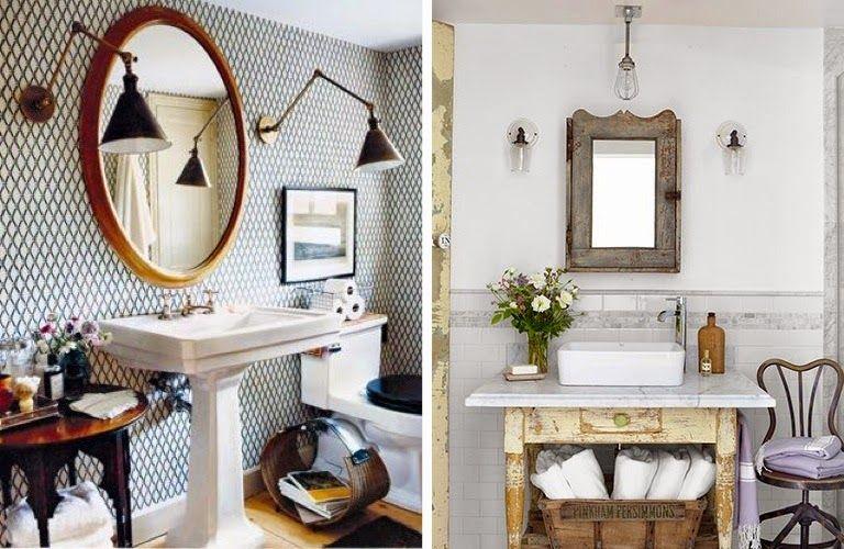 UN BON MOMENT: DECO MOMENT: Vintage en el cuarto de baño   remodel ...