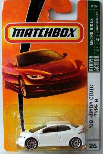 Matchbox 2009 26 08 Honda Civic Type R White By Mattel 10 99