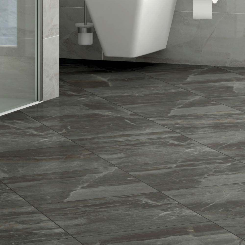 Gio Grey Marble Effect Porcelain Floor Tiles 45 X 45cm Tile Floor Porcelain Flooring Porcelain Floor Tiles