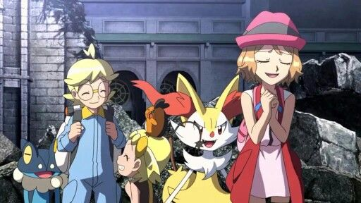 Ash's Kalos friends #Amourshipping ^.^ ♡