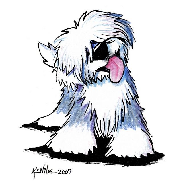 Old English Sheepdog By Kim Niles Disegni Di Cane Animali