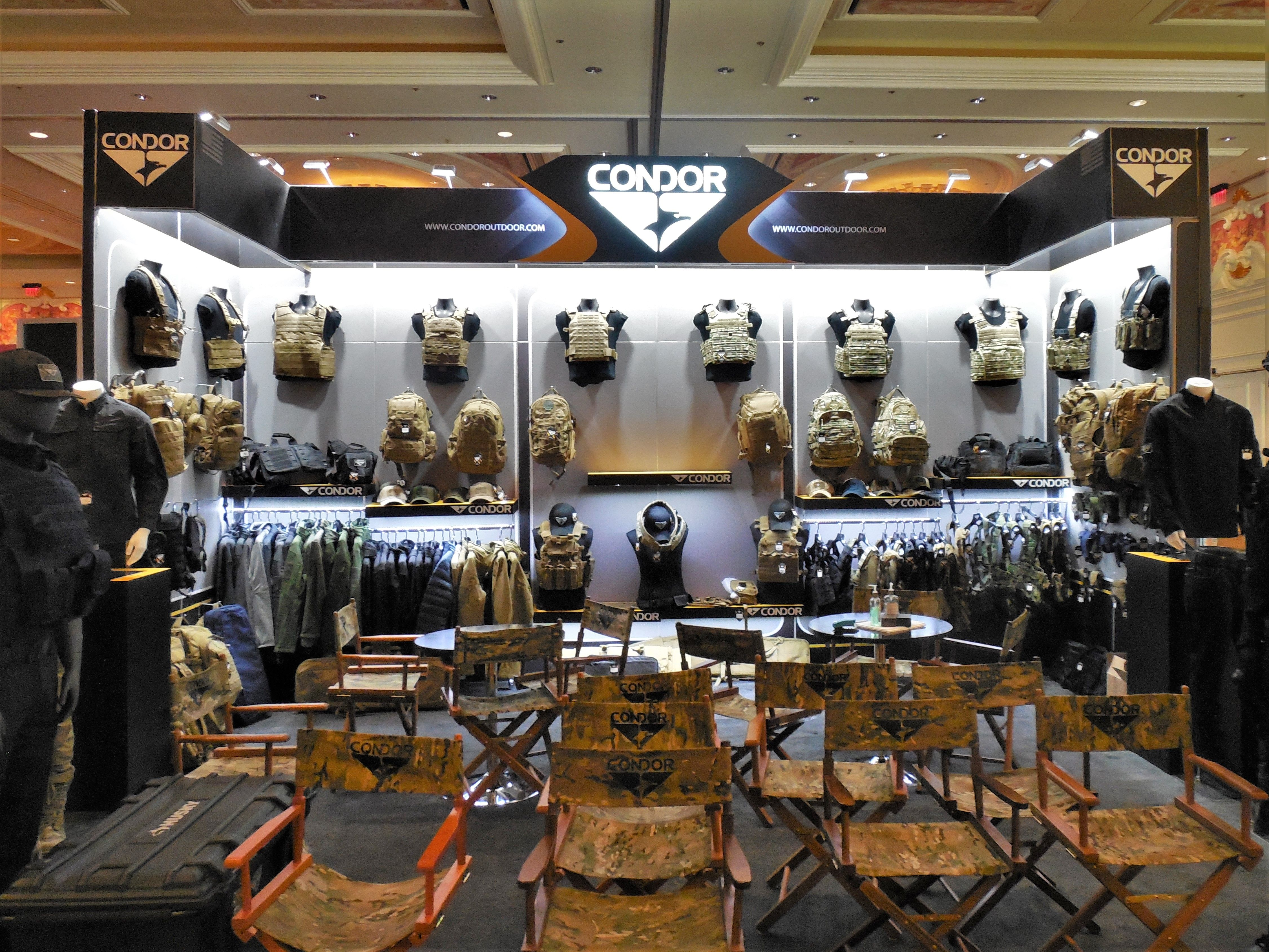 condor outdoor products at the shot show 2018 expo trade show booth design booth design shot show