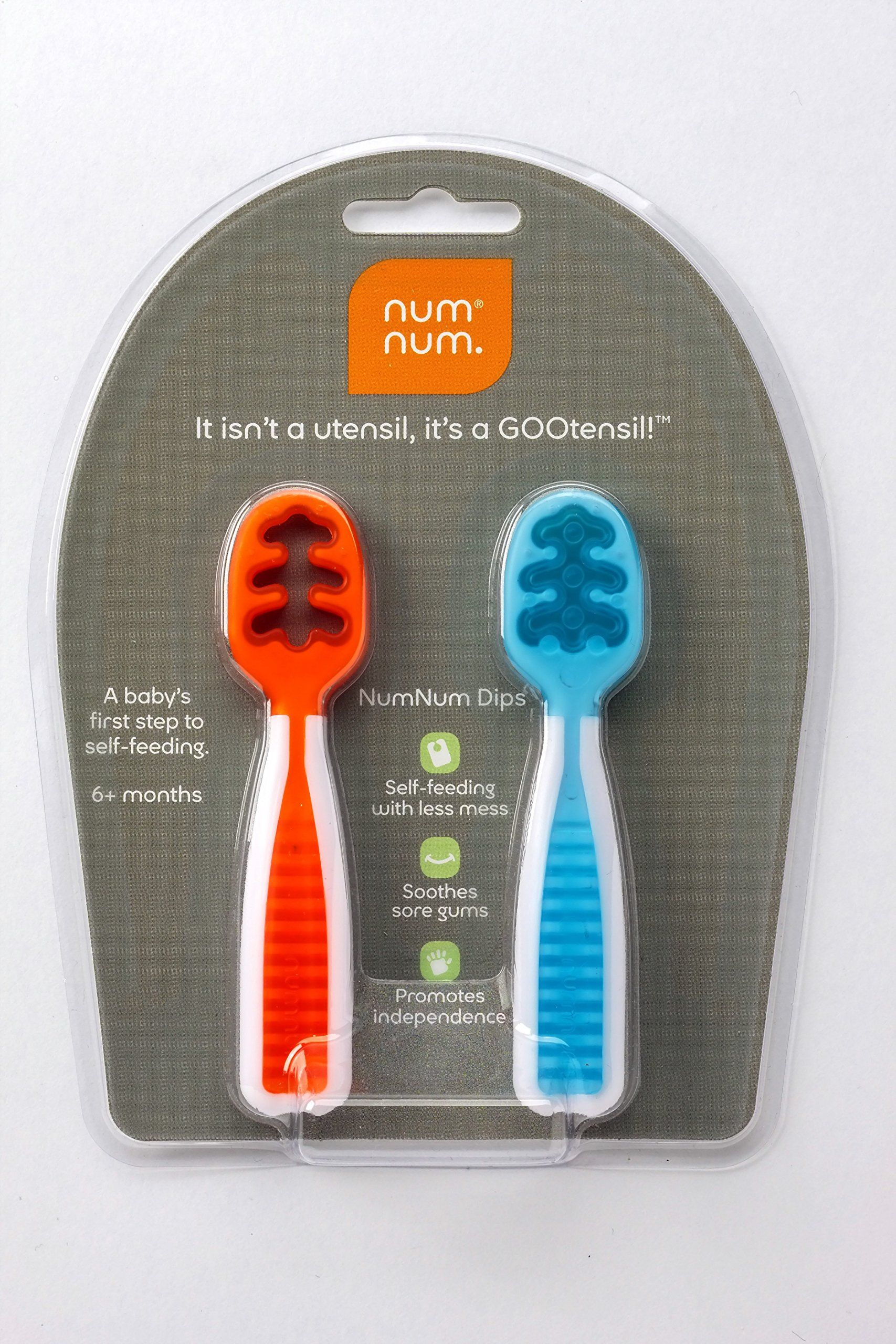 Lot of 2 Packs NumNum Pre-Spoon GOOtensil Baby Spoon 2 Stages 4 Spoons Dips