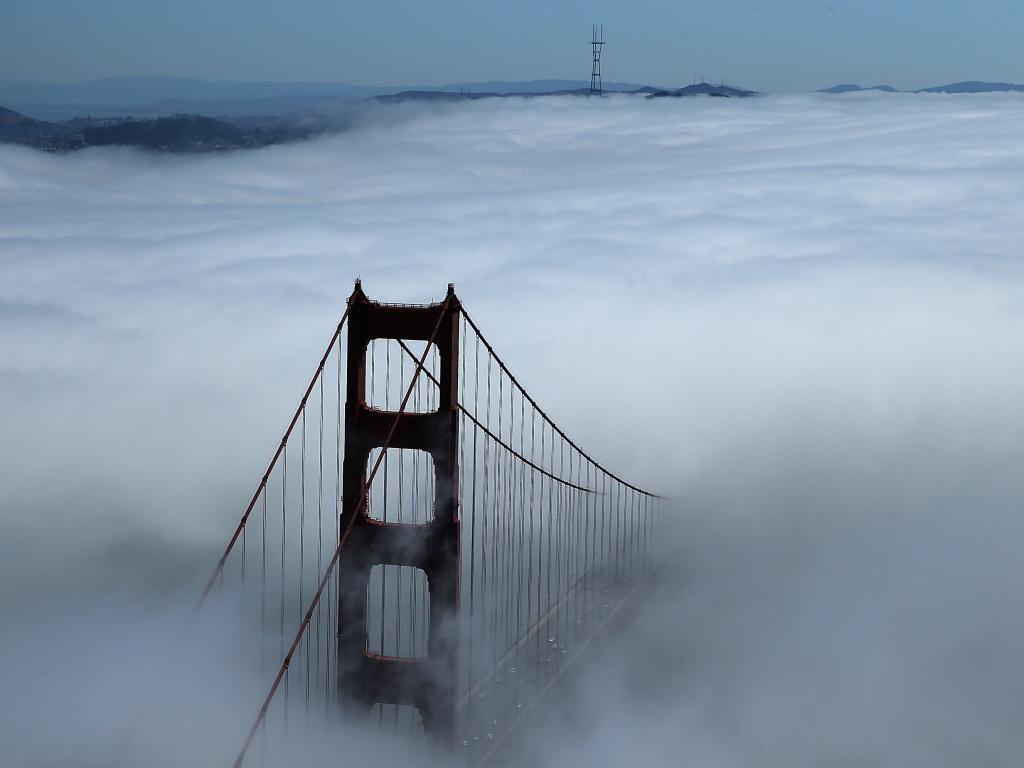 Golden Gate brug in de mist