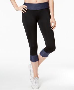 50b87af25d0b0d Ideology Rapidry Colorblocked Capri Leggings, Created for Macy's - Blue XXL