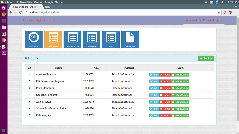 Tutorial Codeigniter : Source Code Website Ujian Online Sekolah