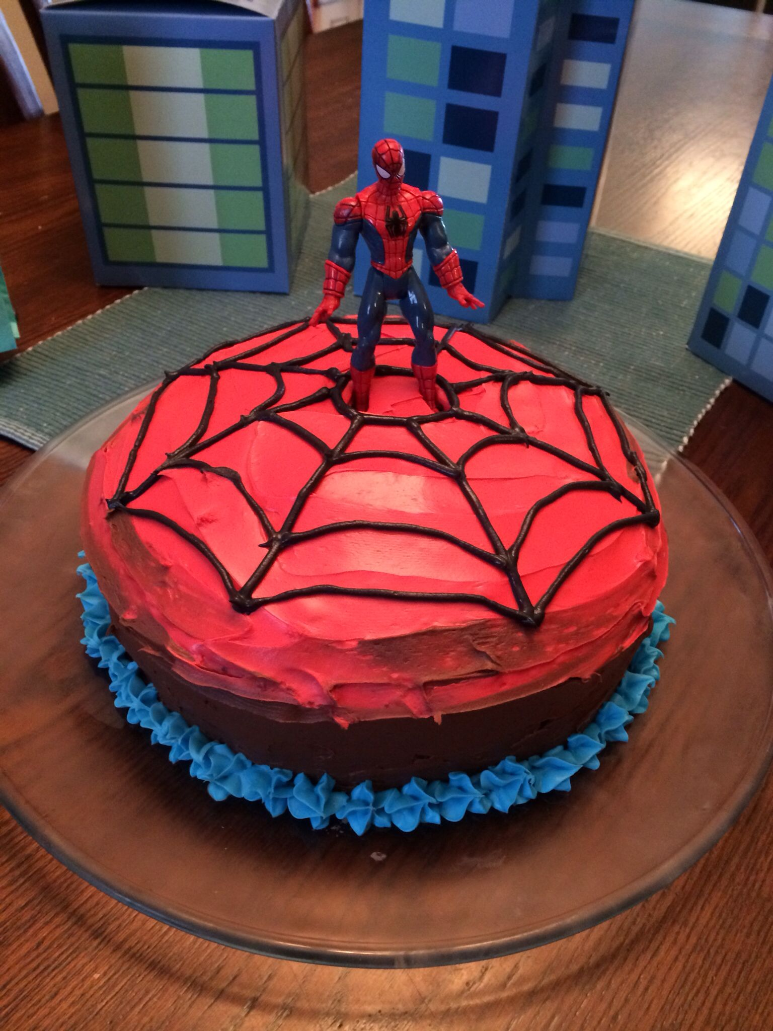 Simple Spider Man Cake With Images Birthday Cakes For Men