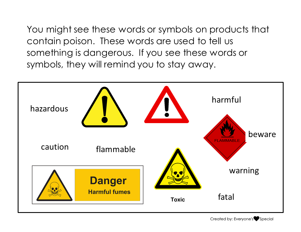 Poison Safety Social Story And Lesson With Images