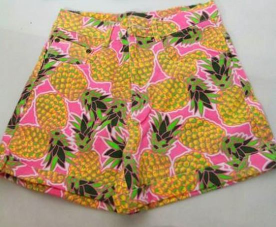pineapples jean shorts