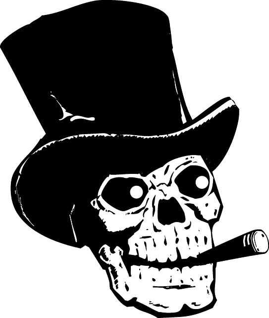 d9604af8 Free Image on Pixabay - Skull, Top Hat, Silhouette, Black | Skulls ...
