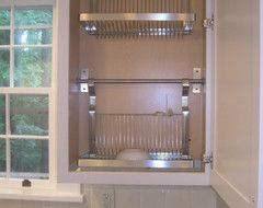 Hidden Dish Drying Racks Above Sink With Images Interior