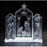 Found it at Wayfair - LED Lighted Nativity Triptych Figurine