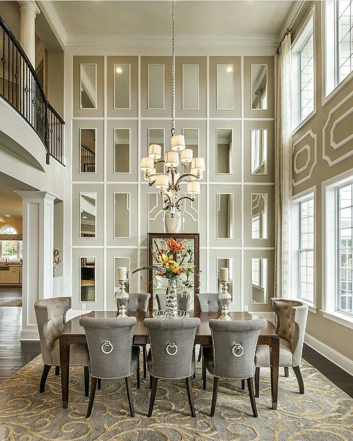 Love The Mirrored Back Wall Luxury Dining Room Dining Room Design Luxury Dining