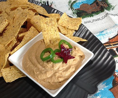 Cashew-Bean Queso - An alternative to the fat-laden queso served in most Mexican restaurants! It's vegan but definitely share-able with non-vegans, too!