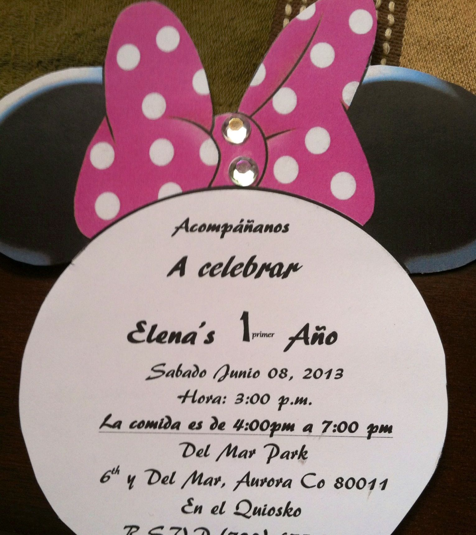 Invitations Spanish Minnie Mouse Party Parties Watermelon Decor 1st Birthday