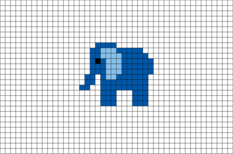 Elephant Pixel Art Brik Pixel Art Designs Pixel Art