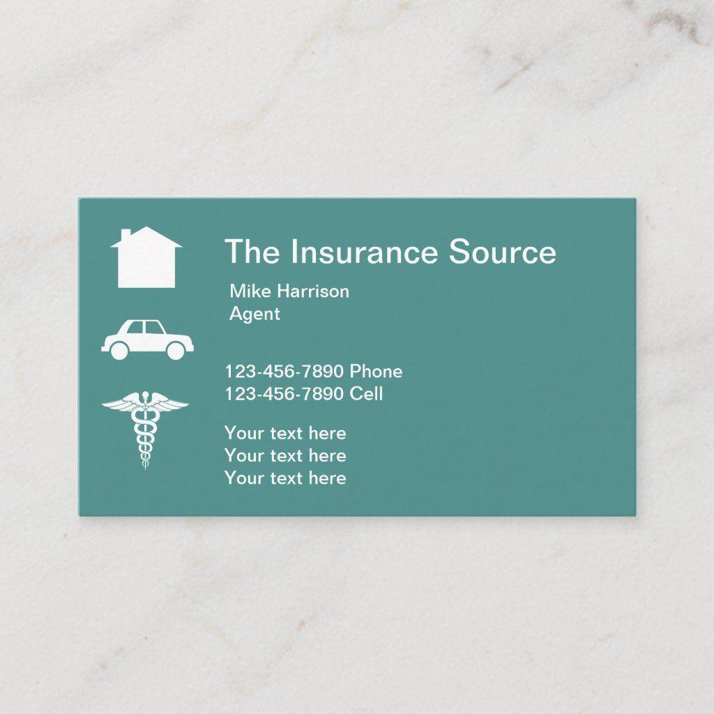 Insurance broker business card in 2020