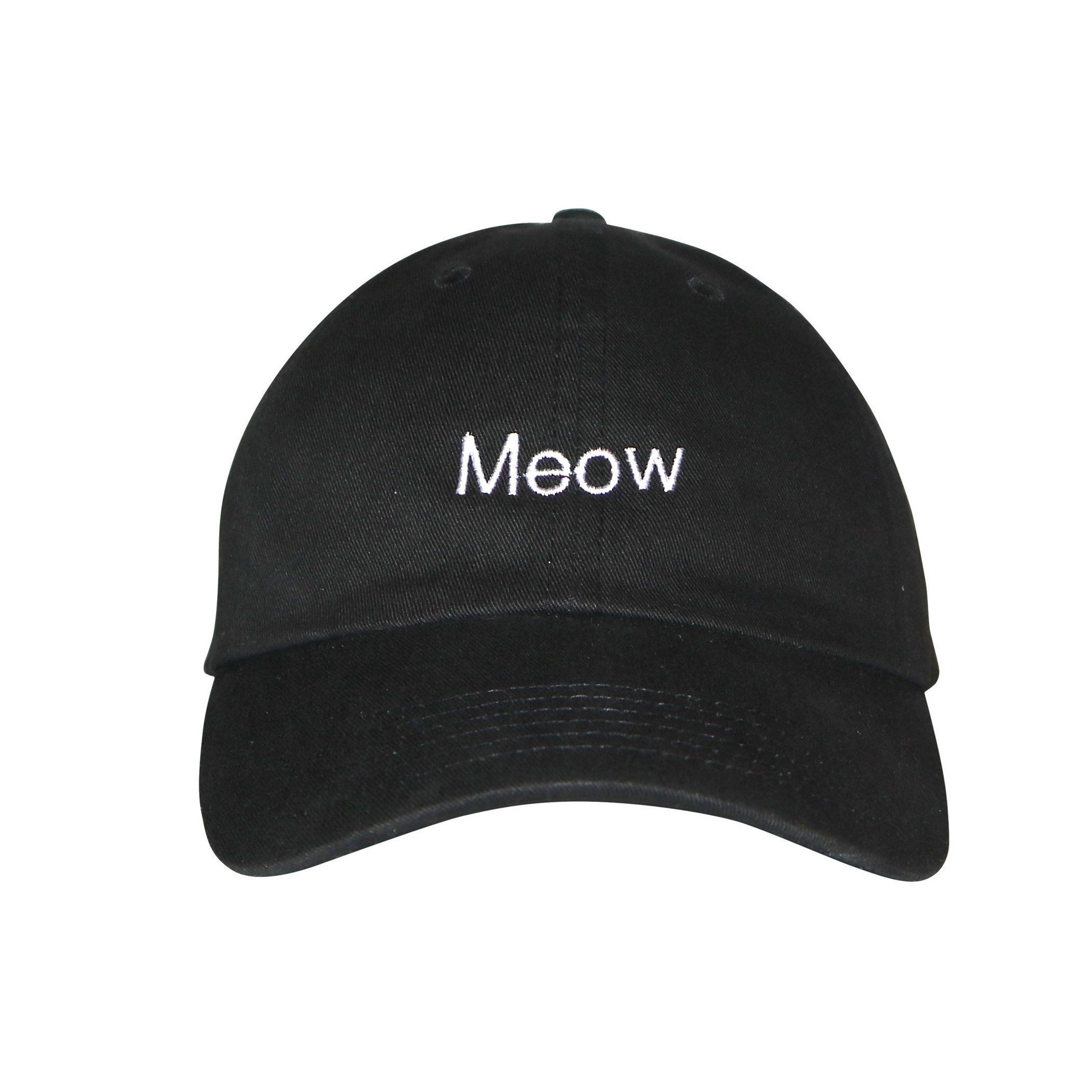 Baseball Cap Adjustable EMBROIDERED Cotton Summer Sun Meow Mens Ladies Hat