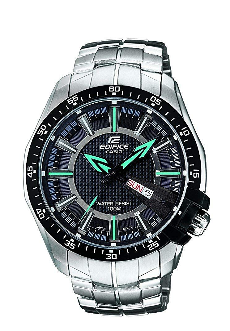 Casio Edifice Analog Black Dial Men's Watch EF130D
