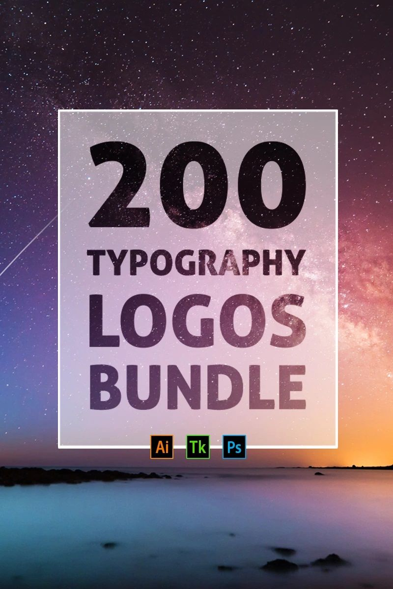 200 Typography Logos Logo Template 76677 (With images