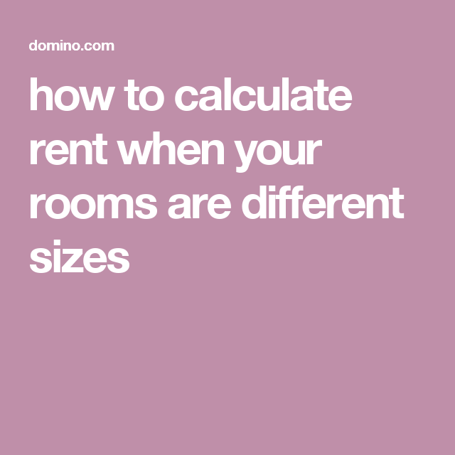 How To Calculate And Split Rent Rent Calculator Domino