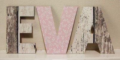 Mooie Houten Letters.Mooie Houten Letters Voor De Kinderkamer Deze Van