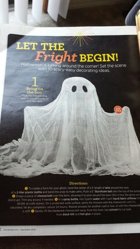 DIY ghost Halloween decoration - Woman\u0027s Day Happy Holidays