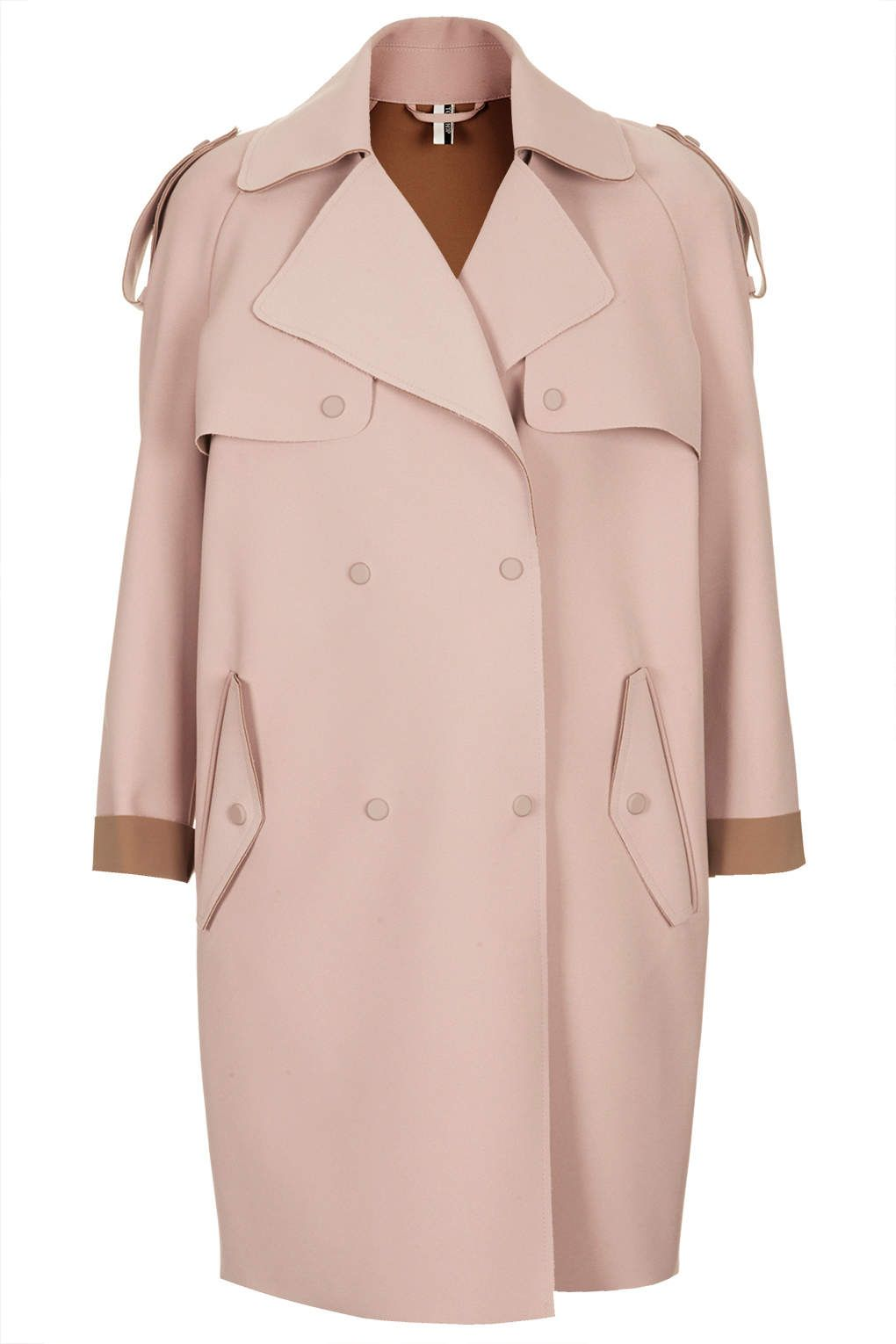 Women's Pink Bonded Trench Coat | Coats, Topshop and Trench