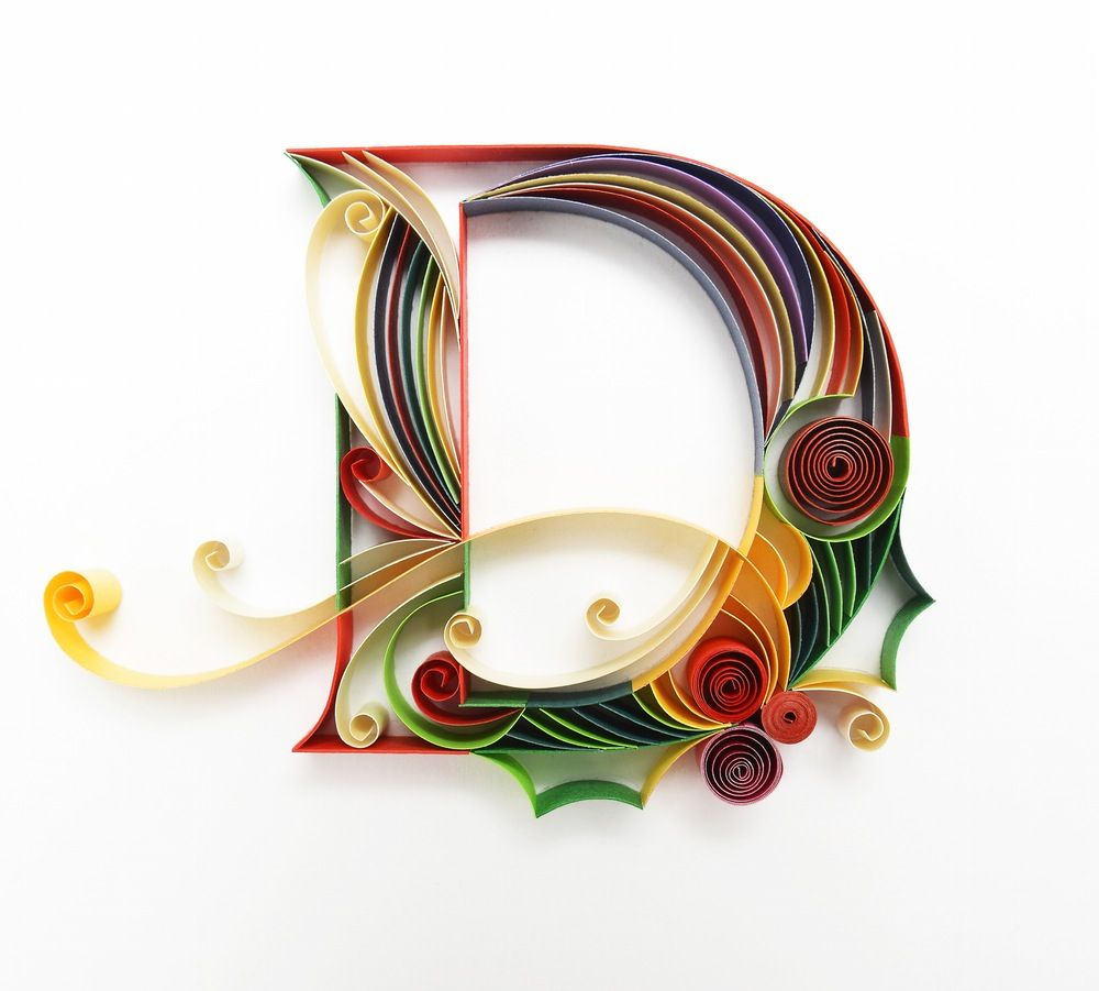4a905aa30ca2c4fce0e57d144928df20 Quilling Letter Template D on