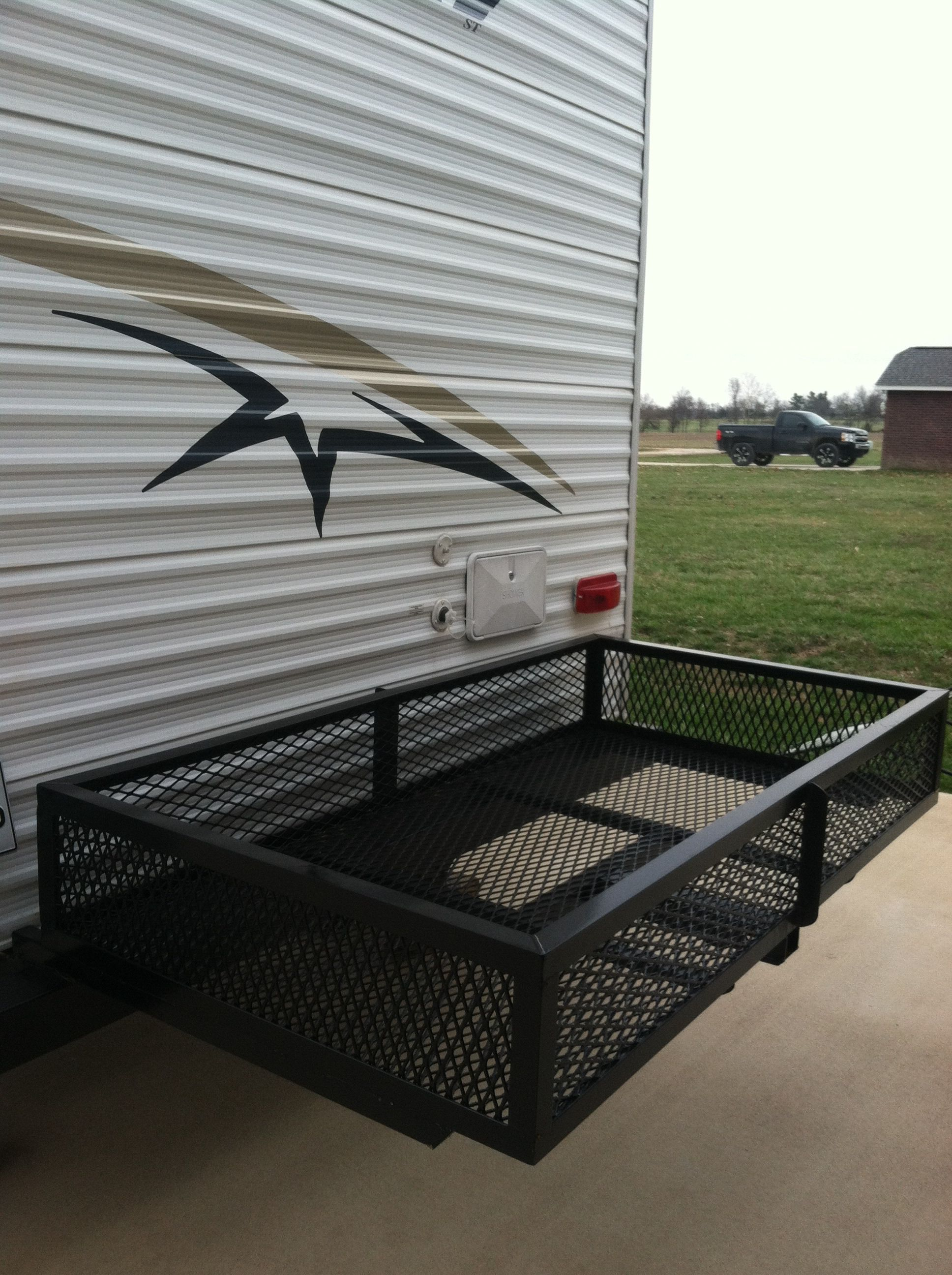 Our Diy Camper Bumper Storage Rack Brds Project Shop Pinterest Rvnet Open Roads Forum Fifthwheels Installing Battery Kill Switch