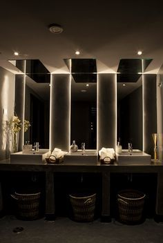 interior design - Restaurant Bathroom Design
