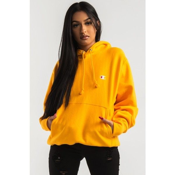 Champion Women s Reverse Weave Pullover Hoodie (£40) ❤ liked on Polyvore  featuring tops dea9d79449