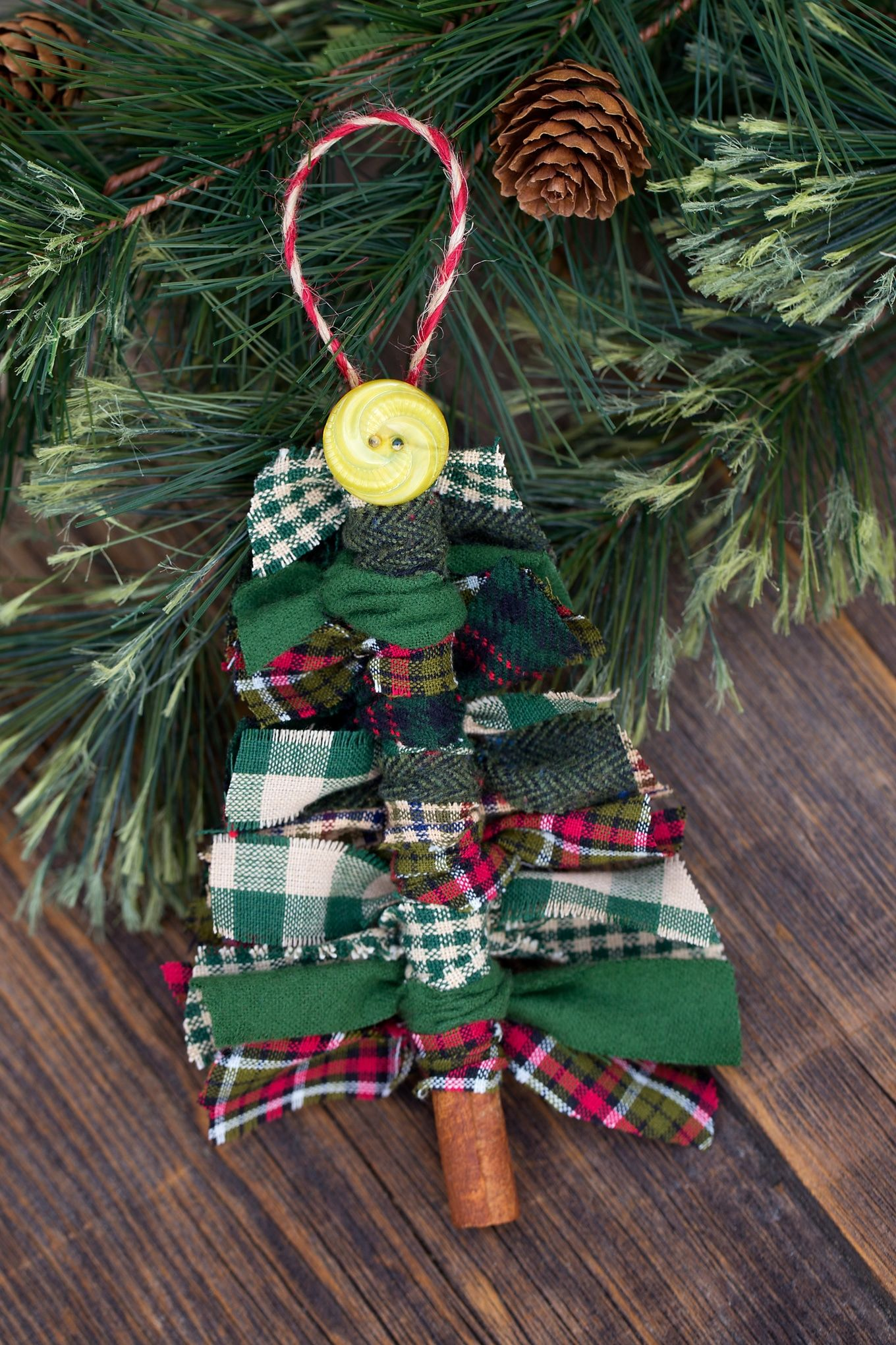 Scrap Fabric Tree Ornaments Recipe Fabric christmas