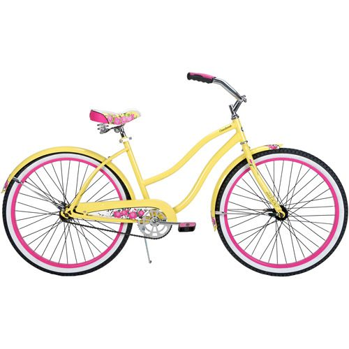 26 Huffy Cranbrook Womens Cruiser Bike Yellow This Color Scheme Is Pretty Cute Too Tho