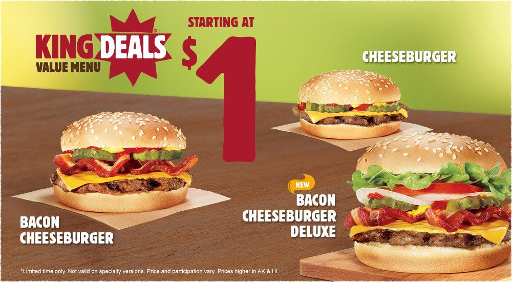Burger King Get Fresh Offers 2 For 5 Burger Burger King Bacon Cheeseburger