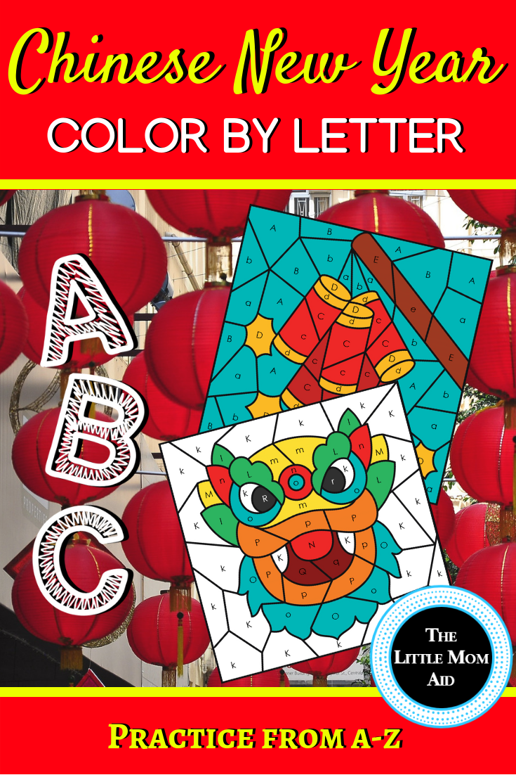 This set of 5 Chinese New Year Color by Letter worksheets will give your  students practice from A-Z.…   Alphabet coloring pages [ 1102 x 735 Pixel ]