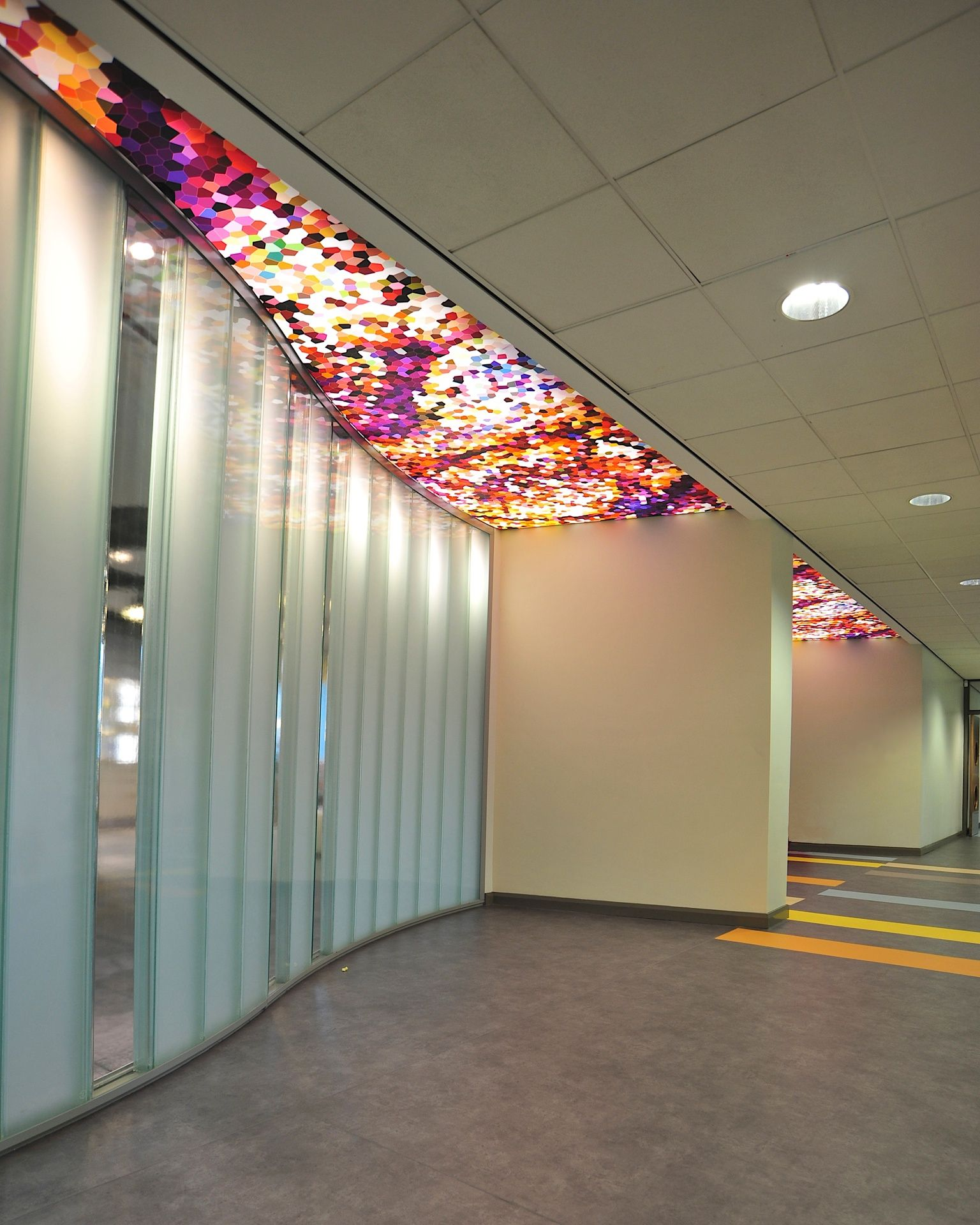 NW Regional College Omagh, With Patterned Backlit Barrisol