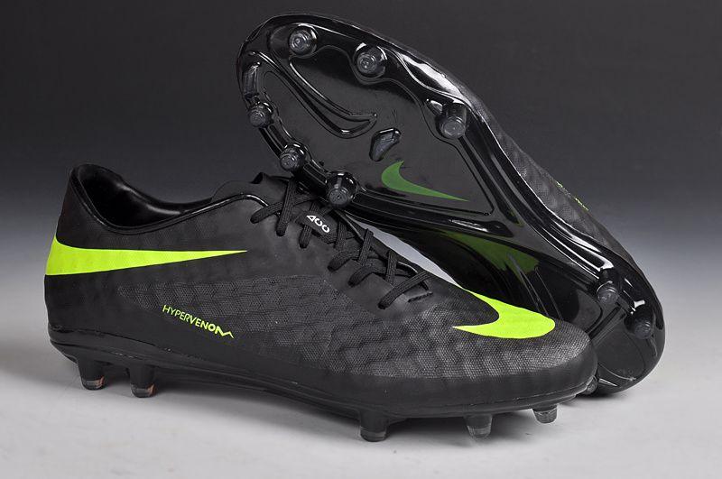 Chaussures de foot nike HyperVenom Phantom FG Noir Vert pas cher