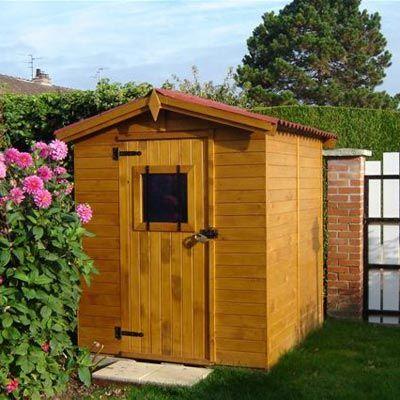 Abri de jardin en bois 2,56m², 16mm avec plancher - Maison Facile - cerisier abri de jardin