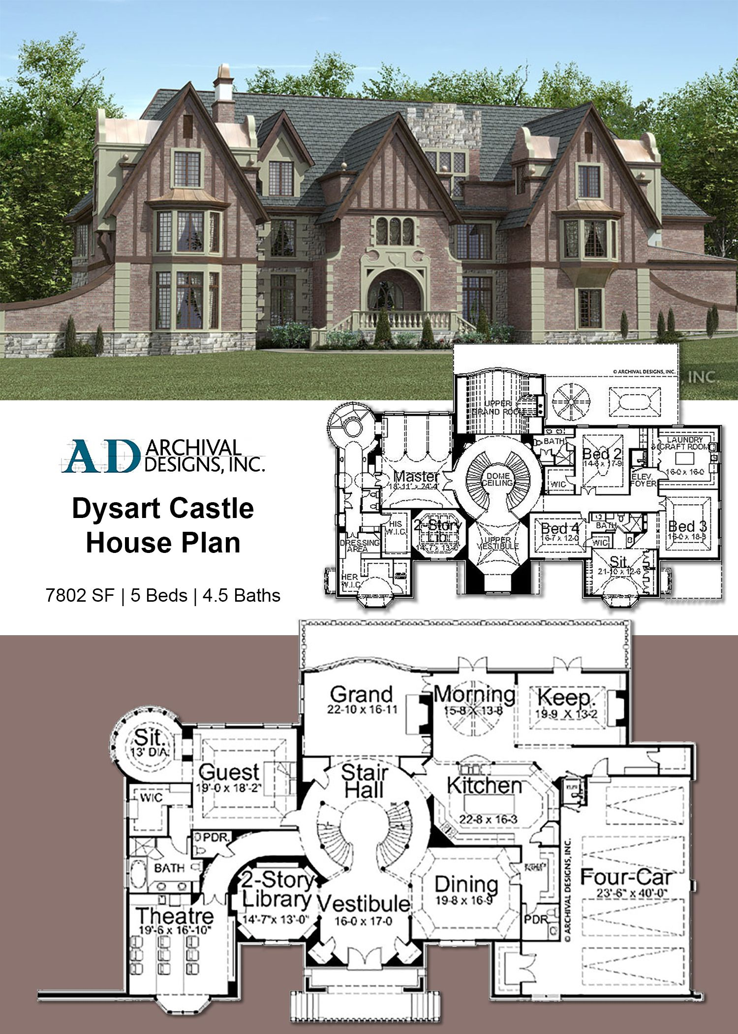 Dysart Castle House Plan Castle House Plans English Country House Plans Castle House