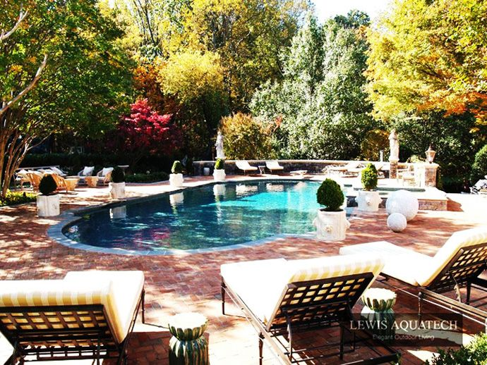 Bath Into 45 Amazing Swimming Pools That Can Beautify Your Outdoor Space Pinterest