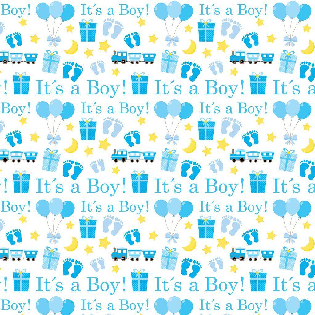 It S A Boy White Pattern Vinyl Baby Scrapbook Album Baby Scrapbook Baby Prints