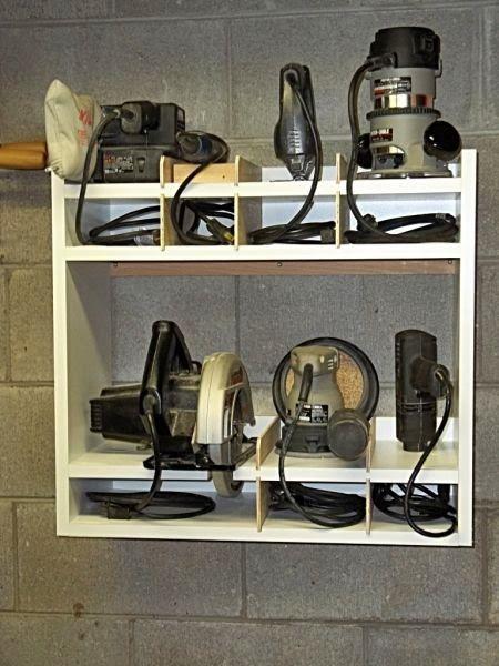 Diy Power Tool Storage System Power Tool Storage Tool